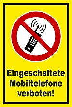 Aufkleber - Mobiltelefone verboten - 60x40cm -