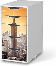 Aufkleber Möbel für IKEA Alex Schreibtisch-5 Schubladen | Möbel-Folie Klebefolie Sticker Tapete Möbel umgestalten | Schöner Wohnen Jugendzimmer Dekoartikel | Design Motiv Empire State Building