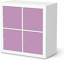 Aufkleber Möbel für IKEA Expedit Regal 4 Türen | Möbel-Folie Klebefolie Sticker Tapete Möbel umgestalten | Schöner Wohnen Jugendzimmer Dekoartikel | Farbe Flieder 3