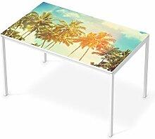 Aufkleber Möbel für IKEA Melltorp Tisch 125x75 cm | Möbel-Folie Klebefolie Sticker Tapete Möbel umgestalten | Schöner Wohnen Jugendzimmer Dekoartikel | Erholung Wellness Sun Flair