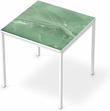 Aufkleber Möbel für IKEA Melltorp Tisch 75x75 cm | Möbel-Folie Klebefolie Sticker Tapete Möbel umgestalten | Schöner Wohnen Jugendzimmer Dekoartikel | Design Motiv Jadeglück