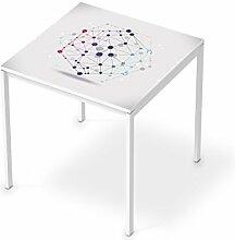 Aufkleber Möbel für IKEA Melltorp Tisch 75x75 cm | Möbel-Folie Klebefolie Sticker Tapete Möbel umgestalten | Schöner Wohnen Jugendzimmer Dekoartikel | Design Motiv Geometric Figures 3