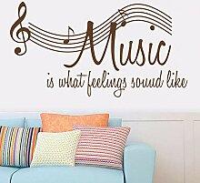 Aufkleber Musik Englisch Noten Wandaufkleber Für