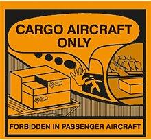 Aufkleber Nur für Frachtflugzeuge (Cargo Aircraft