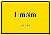 Aufkleber Ortsschild Limbim/Limburgerhof Pfalz