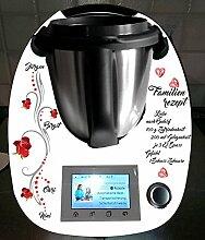 Aufkleber passend für Thermomix TM 5 Familie Rosen