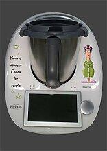 Aufkleber passend für Thermomix TM 6 Hausfrau