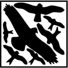 Aufkleber Piktogramm Vogelschutz Set 29x32cm