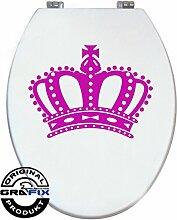 Aufkleber PINK Krone für Pressalit WC Toiletten