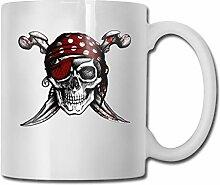 Aufkleber Piraten-Totenkopf und gekreuzte Knochen