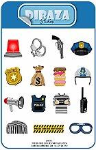 Aufkleber Polizisten Animierte Charaktere Laptop
