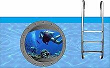 Aufkleber Pool * Sticker Swimmingpool *