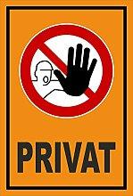 Aufkleber - Privat - Zutritt für Unbefugte