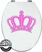 Aufkleber ROSA Krone für Pressalit WC Toiletten Deckel