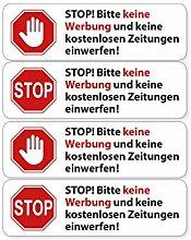 Aufkleber Set 4X Briefkasten Sticker Bitte Keine