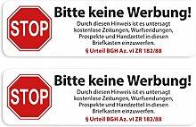 Aufkleber Set Briefkasten Bitte Keine Werbung