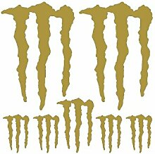 Aufkleber Set Sticker Monster Energy ref: spon-024 gold