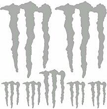Aufkleber Set Sticker Monster Energy ref: spon-024 silber