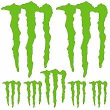 Aufkleber Set Sticker Monster Energy ref: spon-024 Vert kawa