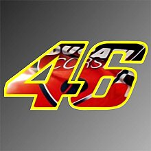 Aufkleber - Sticker 46 Valentino Rossi ducati Moto GP Superbike Sticker