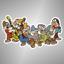 Aufkleber - Sticker 7 Sieben Zwerge comics cartoon
