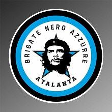Aufkleber - Sticker Brigate Nero Azzurre Atalanta