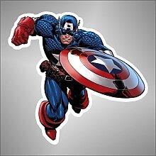 Aufkleber - Sticker Capitan Captain America comics