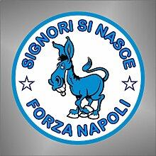 Aufkleber - Sticker Ciuccio Forza Napoli Ultras