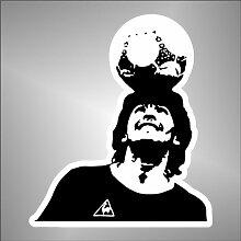 Aufkleber - Sticker Diego Armando Maradona Napoli