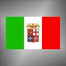 Aufkleber - Sticker flagge Italien Italy marine