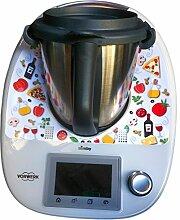 Aufkleber Sticker für Vorwerk Thermomix TM5 - Gastronomie Kollektion - Italia