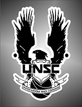 Aufkleber - Sticker Halo United Nations Space Command PSP XBOX Sticker