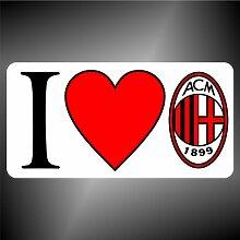 Aufkleber - Sticker I love Milan ultras serie A
