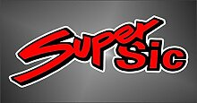 Aufkleber - Sticker Marco Simoncelli 58 Super Sic Moto GP Superbike Motorcycle Sticker