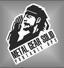 Aufkleber - Sticker Metal Gear Solid Snake PSP