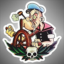 Aufkleber - Sticker Popeye Spinatmatrose Comics cartoon sticker