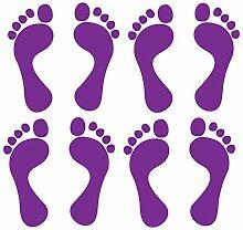 Aufkleber Sticker Vinyl Fußabdruck Fußsohle