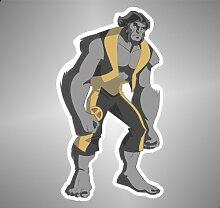 Aufkleber - Sticker X-Men Beast comics cartoon Zeichentrickfilm sticker