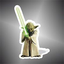 Aufkleber - Sticker Yoda Star Wars Comics Cartoon