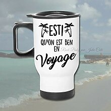 Aufkleber Travel Mug estimated What Ben Travel