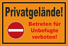 Aufkleber - Verbot der Einfahrt - Privatgelände -