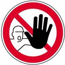Aufkleber Verbotschild Zutritt für Unbefugte