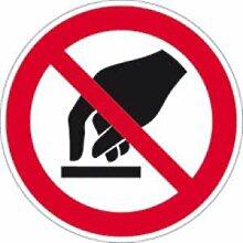 Aufkleber Verbotsschild Berühren verboten Folie