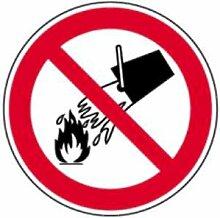 Aufkleber Verbotsschild Verboten mit Wasser zu