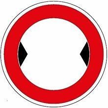 Aufkleber Verkehrszeichen Durchfahrtsbreite, leer,
