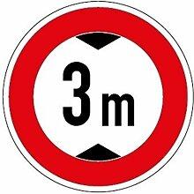 Aufkleber Verkehrszeichen Durchfahrtshöhe 3,0m