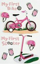 Aufkleber Verzierungen Little B First Fahrrad Girl Medium Aufkleber