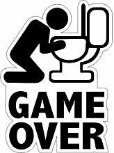 Aufkleber wählbar Adhesivo Sticker Game Over 9x