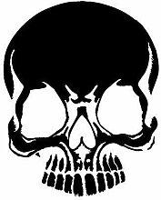 Aufkleber Wandapplikation - Totenkopf Zähne -