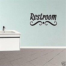 Aufkleber Wandaufkleber Restroom-Schriftzug